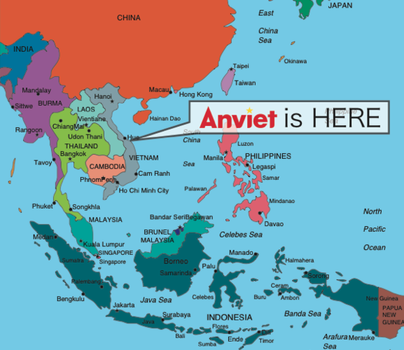 Anviet is conveniently located near the Danang International Airport and Da Nang Port for product shipping and distribution.